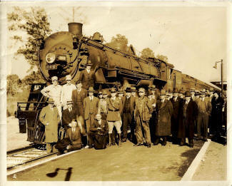 Local dignitaries in Camden in 1937 for opening day ceremonies at the new Seaboard Air Line Railway station, West DeKalb Street Photo courtesy of Camden Archives.