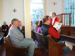Inside Swift Creek Baptist Church, Alice Boykin describes its restoration.