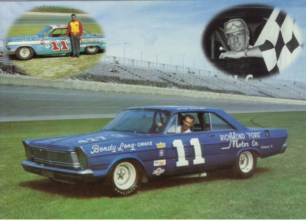 Ned Jarrett drove Bondy Long's 1964 Ford #11 to victory at Darlington in 1965